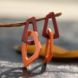 欧美大牌夸张几何耳钉 个性时尚韩国树脂拼接耳坠耳饰 8166-43