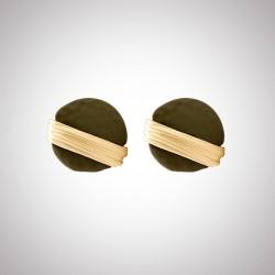 甜美可爱少女撞色圆形耳钉 韩国个性百搭气质简约耳坠耳环耳饰品 8165-43
