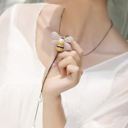 韩版时尚长款蜜蜂毛衣链女2021年新款个性简约毛衣项链服装配饰 8245-60