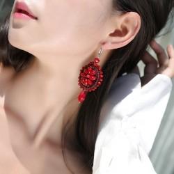 2021年新款复古耳环长款民族风 欧美气质耳坠夸张波西米亚宫廷耳坠 8247-80