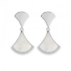 千族银 S925纯银针耳钉女 2020新款潮气质韩国简约扇形贝壳耳饰品 高级感网红耳环 Q538-88