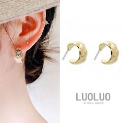 LUOLUO 韩国流行U形款S925银针耳钉小巧精致不显笨重菱形更显俏皮 L010-70