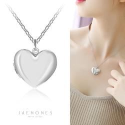 JAENONES嘉诺丝 新款欧美时尚 桃爱心吊坠记忆光面相盒项链 可以打开放照片 A415-41