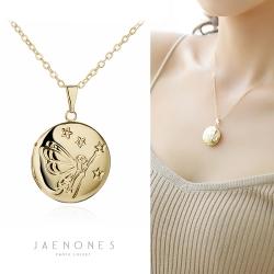 JAENONES嘉诺丝 时尚优雅圆形吊坠记忆相盒 Floating Locket可打开锁骨链 A417-41