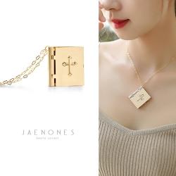 JAENONES嘉诺丝 欧美时尚几何十字架吊坠相盒项链个性百搭记忆相盒 A413-49