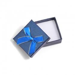 方形饰品包装盒礼盒胸章蝴蝶结盒胸针礼品盒蓝色耳环盒珍珠戒指盒 6054-6